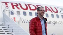 Gerald Butts, principal secretary to Justin Trudeau, on the campaign trial with his boss in 2015. Mr. Butts and Katie Telford, the PM's chief of staff, were reimbursed more than $200,000 in moving expenses. (Chris Wattie/Reuters)