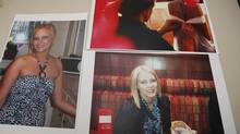 """Photographs of missing Saint Mary's University student Loretta Saunders are displayed at the Mi""""kmaw Friendship Native Friendship Centre in Halifax, February 25, 2014. (PAUL DARROW For The Globe and Mail)"""