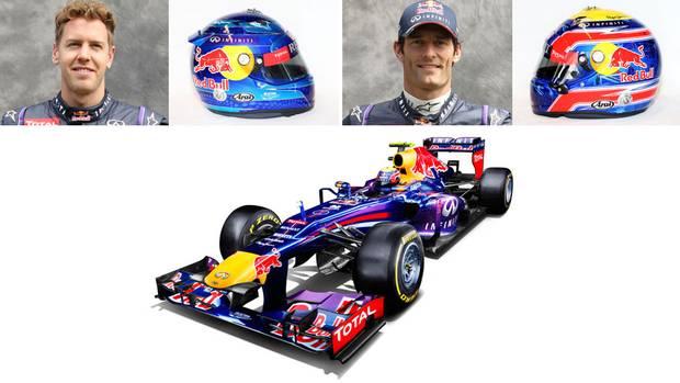 Sebastian Vettel (No. 1) of Germany and Australia's Mark Webber (No. 2) for Red Bull Racing-Renault (Red Bull/Brandon Malone/Red Bull/Reuters)