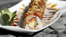 Tunagi-crab roll is served at Ki Modern Japanese Restaurant, 1121 Alberni Street in Vancouver. (Laura Leyshon for the Globe and Mail)