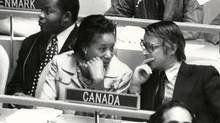 Mairuth Sarsfield at the United Nations in New York.