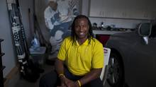 Former NHL enforcer Georges Laraque said on Thursday he is putting his political career as deputy leader of the federal Green Party to fight fraud charges. (file photo) (JOHN ULAN/THE GLOBE AND MAIL)