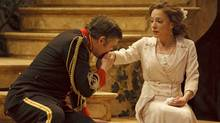 "Ben Carlson as Benedick and Deborah Hay as Beatrice in ""Much Ado About Nothing"" (David Hou)"
