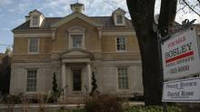 High-end home for sale in Rosedale neighbourhood of Toronto. (Fernando Morales/The Globe and Mail)