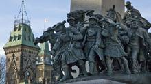 The National War Memorial in Ottawa was vandalized in 2006. (Sean Kilpatrick/The Canadian Press)