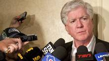 Toronto Maple Leafs president and general manager Brian Burke speaks to reporters during the NHL General Managers' annual fall meeting in Toronto, Ont. Tuesday, November 9, 2010. THE CANADIAN PRESS/Darren Calabrese (Darren Calabrese)