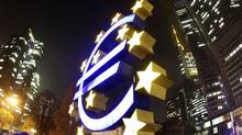 The Euro sculpture in front of the ECB in Frankfurt. The current crisis shows that Greeks, Germans and Italians have one important thing in common – a deep aversion to ceding control of their national budgets. (Michael Probst/Associated Press/Michael Probst/Associated Press)