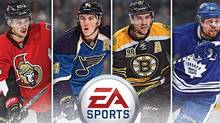 Candidates for the front cover of EA's NHL 15, which promises to be a major improvement over previous incarnations of the hockey franchise. (Electronic Arts)