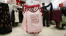 A woman shops at a La Vie En Rose store (LARRY MACDOUGAL/CP)
