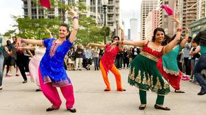 Bollywood dancers from Upstage Productions participated in a performance at Bay and College Tuesday to launch Energizer Canada�s TIFF sponsorship.