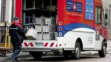 Canada Post is struggling with a steady decline in the number of letters mailed, an increase in the number of addresses it must serve, and a multibillion-dollar pension deficit. (Andrew Vaughan/The Canadian Press/Andrew Vaughan/The Canadian Press)