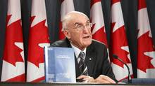 Former Supreme Court of Canada Justice John Major delivers a statement about his final report on the bombing of Air India Flight 182 in Ottawa June 17, 2010. (CHRIS WATTIE/REUTERS/Chris Wattie)
