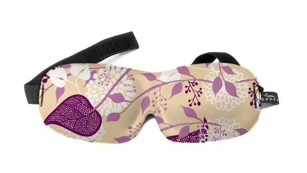 Rest easy on the plane with 40 Winks Ultralight Sleep Mask. The contoured foam eye mask fits snugly in place without applying pressure around the temples. It blocks out light better than flimsy fabric versions and comes with adjustable straps and a range of colourful designs. $12.95 (U.S.); bucky.com