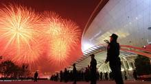 Fireworks light up the sky during the opening ceremony of the World Expo in Shanghai on April 30, 2010. (Peter Parks/AFP/Getty Images)