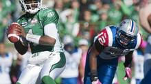 The Saskatchewan Roughriders and quarterback Darian Durant face the Montreal Alouettes in Week 14 CFL action on Sunday. (file photo) (LIAM RICHARDS/THE CANADIAN PRESS)