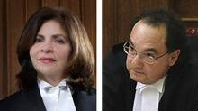 Composite image of Madam Justice Andromake Karakatsanis and Mr. Justice Michael Moldaver. (HANDOUT/HANDOUT)