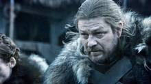 Sean Bean in Game of Thrones. Screen grab from YouTube.