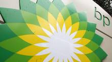 In this file photo made Oct. 25, 2007, the BP (British Petroleum) logo is seen at a gas station in Washington. (Charles Dharapak/AP)