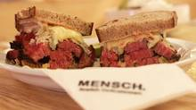 The menu at Mensch. Jewish Delicatessen is minimal, but owner Nitzan Cohen sells out almost everyday.