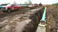 TransCanada Corp.'s Keystone XL pipeline, which is awaiting U.S. approval by President Barack Obama. (Nathan VanderKlippe/The Globe and Mail)