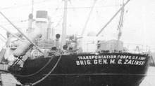 The Brigadier General M.G. Zalinski transport ship, which ran aground and sank off the coast of British Columbia in 1946, is shown in an undated handout photo. (THE CANADIAN PRESS)