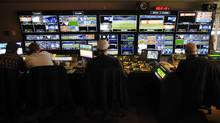 The television control room in the Rogers Centre. Rogers has purchased Score Media for $167-million. (J.P. MOCZULSKI For The Globe and Mail)