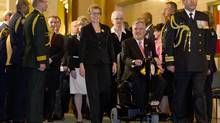 Premier Kathleen Wynne and Lieutenant-Governor David Onley of Ontario. (Peter Power/Peter Power/The Globe and Mail)