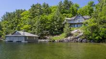 This property on Muskoka's Lake Joseph has an asking price of $2,995,000, part of the growing market of cottages over $2-million. (Paul Bennett/Chestnut Park Real Estate)