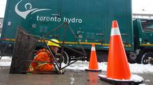 Toronto Hydro says a large area from Dundas Street in the north running south to the Gardiner Expressway and from University Avenue in the west running east to Parliament Street is affected by the outage (Tim Fraser For The Globe and Mail)