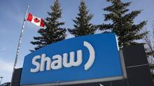 A Shaw Communications sign at the company's headquarters in Calgary in this file photo. (Jeff McIntosh/THE CANADIAN PRESS)