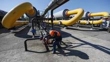 Russia warns a gas cut-off to Ukraine could affect supplies to European countries. (GLEB GARANICH/REUTERS)