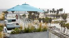 Hit the rooftop at Hotel Erwin just off the boardwalk on Venice Beach for an unobstructed view and snuggly blankets when the sun sets.