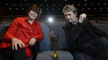 Helga Stephenson, CEO of the Academy of Canadian Cinema and Television, and Martin Short, who is hosting Sunday's inaugural Canadian Screen Awards. (Fred Lum/The Globe and Mail)