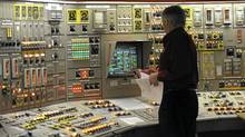 The control room for the reactor side of the Darlington Nuclear Station operations. Unit 1 was down for planned maintenance. Photos taken April 6 2011 during a media tour of the Ontario Power Generation's Darlington Nuclear facility near Oshawa, Ont. (Fred Lum/The Globe and Mail/Fred Lum/The Globe and Mail)