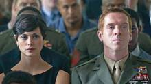 Morena Baccarin and Damien Lewis as Nicholas Brody in Homeland. (Kent Smith / SHOWTIME)