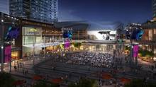 Renderings of the Ice District around Rogers Place arena in Edmonton, Alta. Construction on the $480-million arena, to seat 18,641 fans, began in March of 2014.