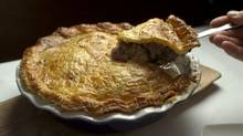 Venison pie prepared by chef David Lee, Oct. 14, 2012. (Kevin Van Paassen/The Globe and Mail)