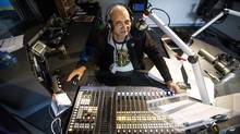 """CKUA radio personality Bhangoo Dilbagh Singh, better known as """"Baba,"""" is photographed while live on the air in Edmonton, Alta., on Saturday, March 23, 2017. (CODIE MCLACHLAN for the Globe and Mail)"""