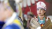 Indian Princess Amber Big Plume let it be known that when she turned 20 in 2013 she would have attended 20 Stampedes. (Kevin Van Paassen/The Globe and Mail)