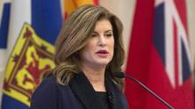 Conservative interim leader Rona Ambrose speaks to members of the Conservative Party of Canada caucus on Parliament Hill in Ottawa, Wednesday November 16, 2016. (Adrian Wyld/THE CANADIAN PRESS)