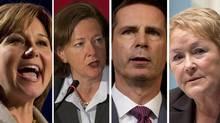 A combination photo shows, from left, B.C. Premier Christy Clark, Alberta Premier Alison Redford, Ontario Premier Dalton McGuinty and Quebec Premier Pauline Marois.