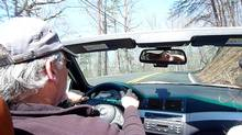 Columnist Peter Cheney's friend Matt Taber driving his BMW M3 on the Lookout Mountain Scenic Highway near Rising Fawn, Georgia. (Peter Cheney/The Globe and Mail)