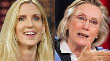 U.S. conservative pundit Ann Coulter and Toronto Liberal MP Carolyn Bennett are shown in a photo combination. (Associated Press and The Canadian Press)