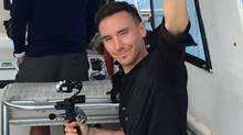 Canadian documentary filmmaker and environmental activist Rob Stewart is seen on a boat off the coast of Florida before he went missing on January 31, 2017. (Handout via REUTERS)