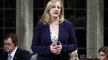 Minister of Labour Lisa Raitt speaks during Question Period on Parliament Hill in Ottawa. (Blair Gable/REUTERS)