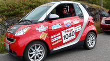 The Smart fortwo driven by Petrina Gentile in the Targa faced stiff competition; it finished third last in its category.