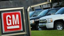 General Motors vehicles are seen on a sales lot in Pembroke Pines, Fla., on Nov. 10, 2010. (Joe Raedle/Getty Images)