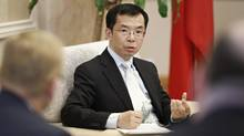 """Chinese Ambassador to Canada Lu Shaye in Ottawa on March 21. Mr. Lu has called on Canada's corporate elite to """"actively introduce and explain to the Canadian public"""" the benefits to the country of signing a free-trade deal. (Blair Gable For The Globe and Mail)"""