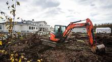 Construction equipment sits in Richmond, B.C. (Ben Nelms/The Globe and Mail)
