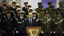 Iraqi Prime Minister Nouri al- Maliki speaks in Baghdad on Dec. 31, 2011. (Karim Kadim/AP/Karim Kadim/AP)